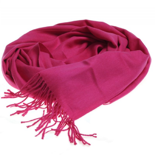 Plain extra soft pashmina style scarf in pink